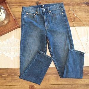 Gap 28 High Rise True Skinny Jeans
